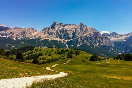 Endless hiking trails Alta Badia region Dolomites Italy