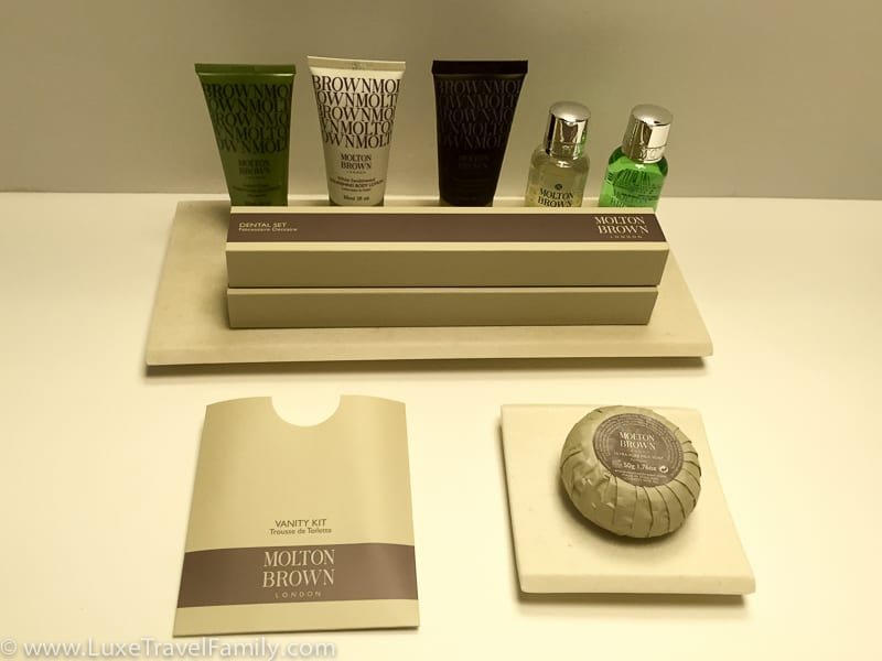 Molton Brown products in the bathroom at the Mercer Hotel Barcelona