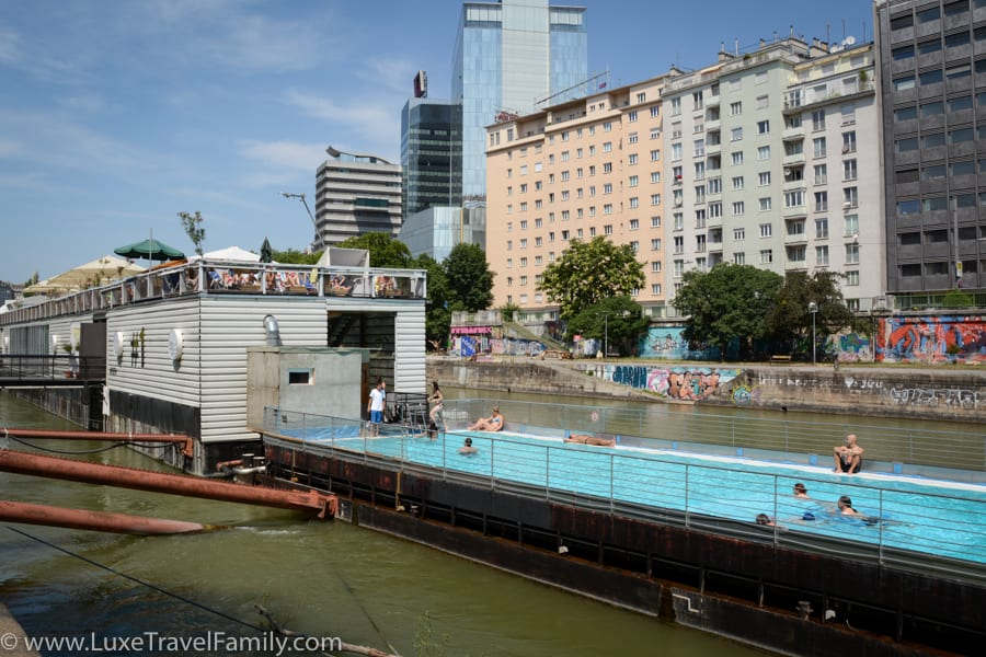 Things to do in Vienna with Kids Badeschiff