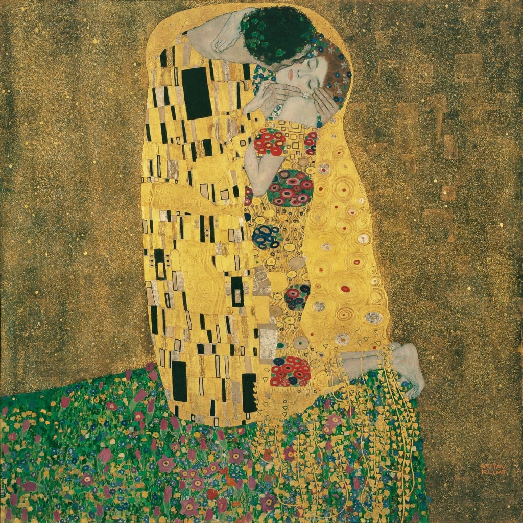 The Kiss by Gustav Klimt at the Belvedere.