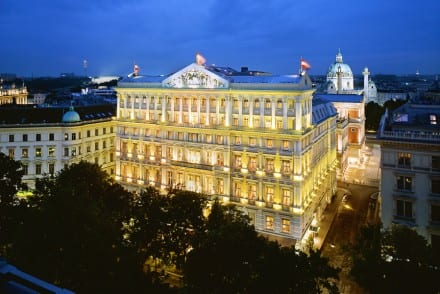 Beautiful Hotel Imperial Vienna in the evening