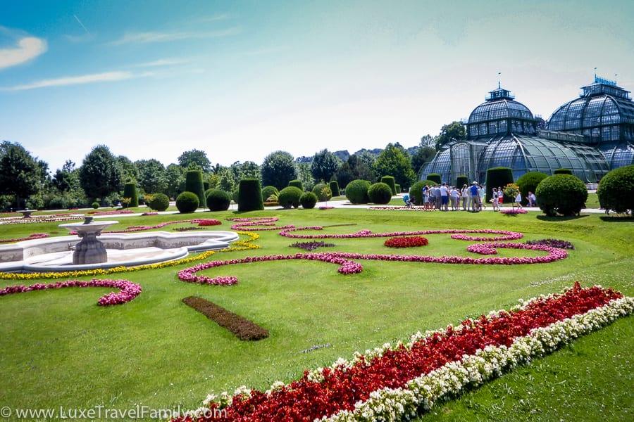 Schonbrunn Palace Palm House and gardens