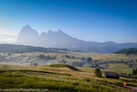 Morning mist Alpe di Siusi