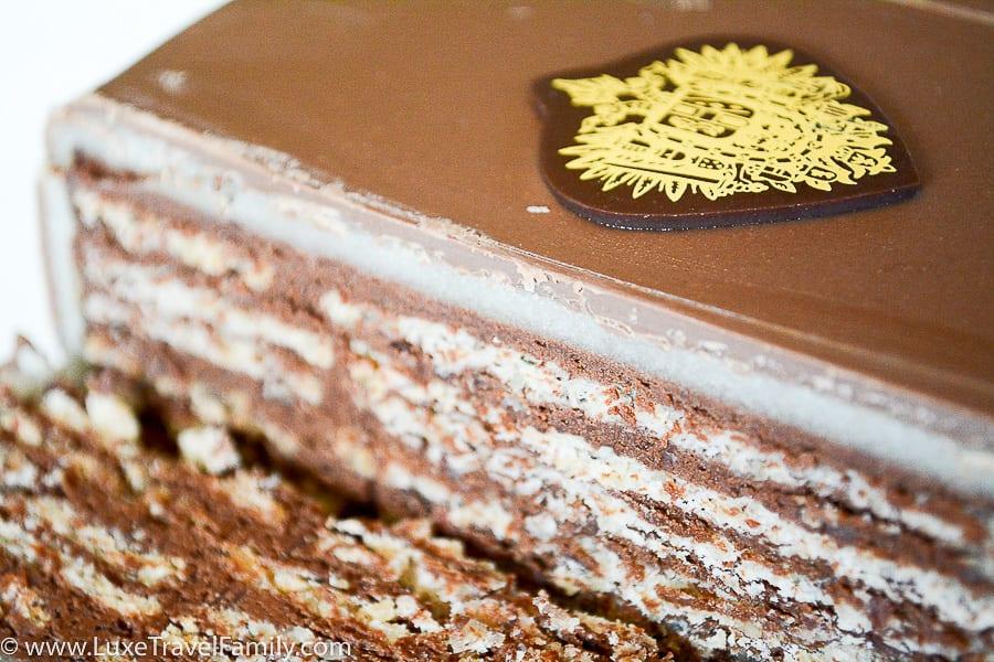 A slice of the original Imperial Torte