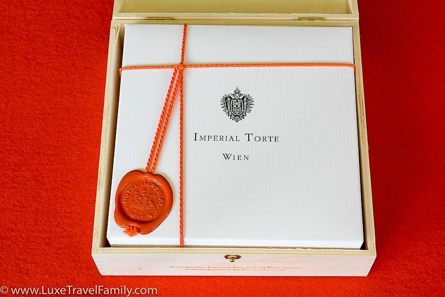 Original Imperial Torte in a wooden keepsake box