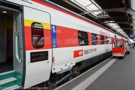 Swiss Train restaurant car