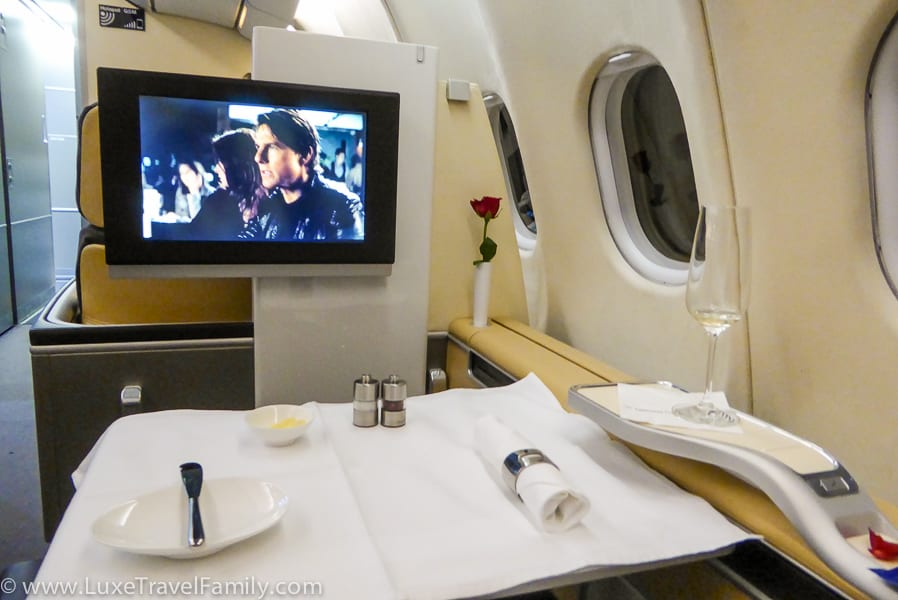 Lufthansa First Class A330 Montreal to Munich