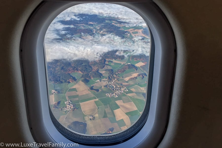 View of Germany from the Lufthansa A330-300 cabin