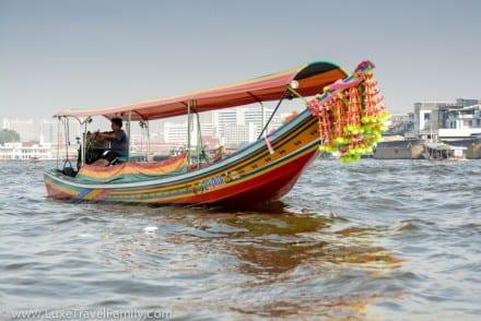 Long tail boat Chao Phraya River Bangkok