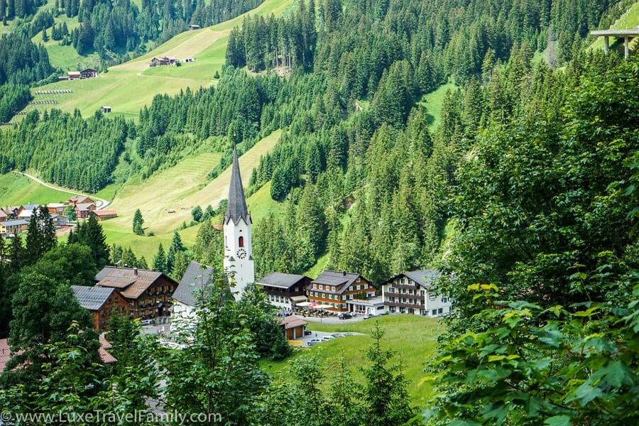 Schrocken, Austria view culinary hike in Bregenzerwald