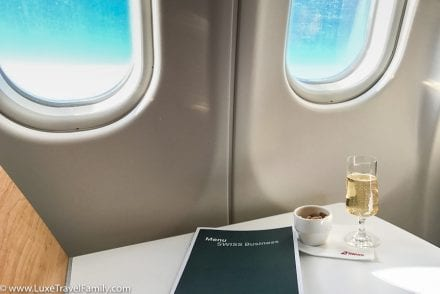 SWISS a330 Business Class Champagne