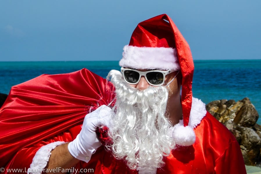 Santa tips for traveling with kids over Christmas