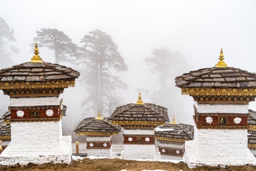 Things to do in Bhutan with Kids Dochu La Memorial Chortens