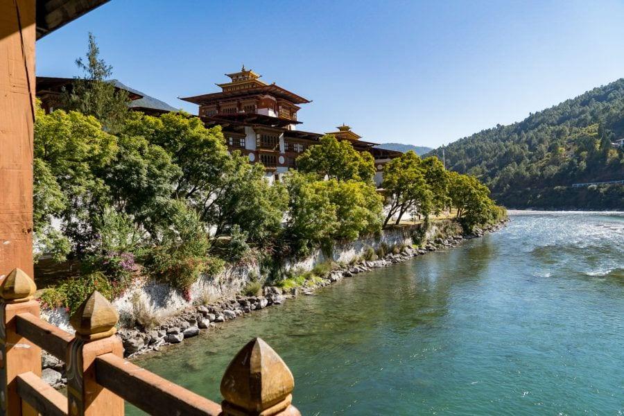 Covered Bridge Punakha Dzong Bhutan
