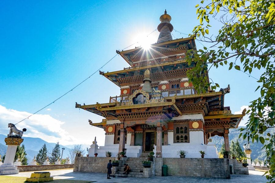Khamsum Yulley Namgyal Chorten things to do in Bhutan with kids