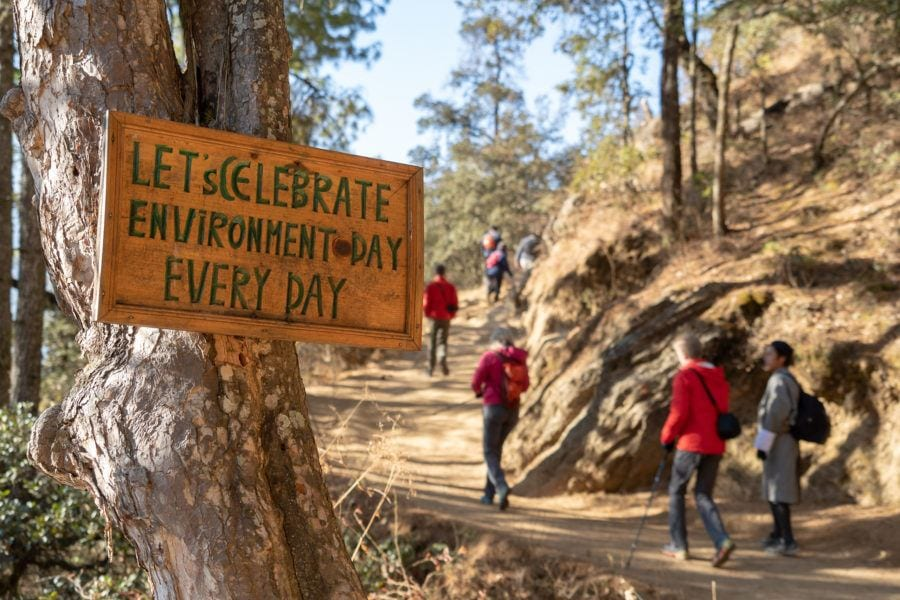 Enjoy litter-free hiking trails Tiger's Nest things to do in Bhutan