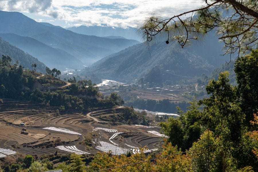 Punakha Valley View things to do in Bhutan with Kids