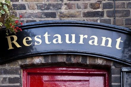 Great Places to Eat in London Restaurant sign