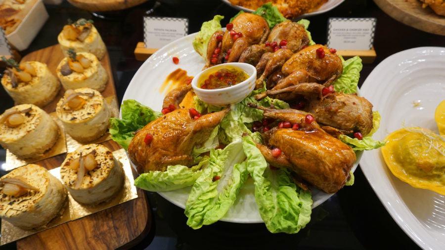 Harrods food hall London chicken