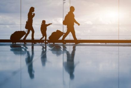 family travel two parents and a young child